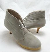 (AM-01) Sepatu Ankle Boot Heels Abu