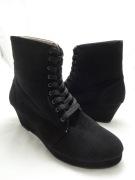 (AM-04) Sepatu Boot Wedges Hitam