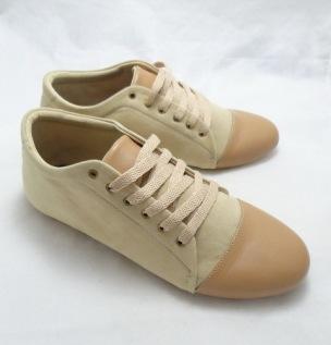 (AM-05) Sepatu Flat Korea Coklat Krem