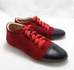 (AM-07) Sepatu Flat Korea Merah Hitam