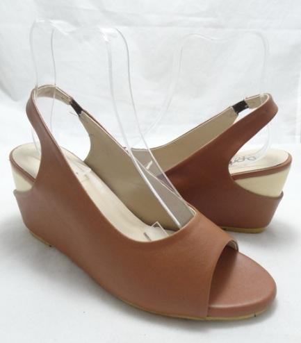 (AM-10) Sepatu Wanita Wedges Coklat