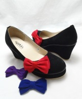 (AM-14) Sepatu Wedges Korea Black