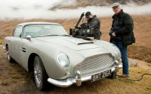 Skyfall-Aston-Martin-DB5-being-set-up-for-filming